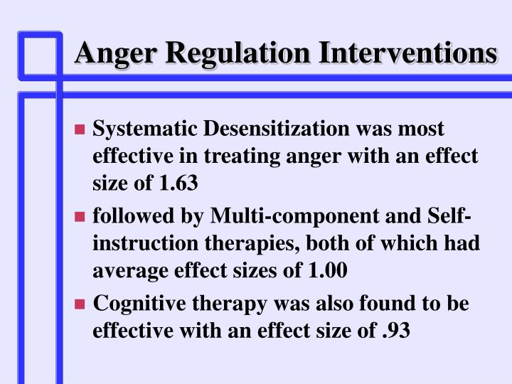 Anger Regulation Interventions