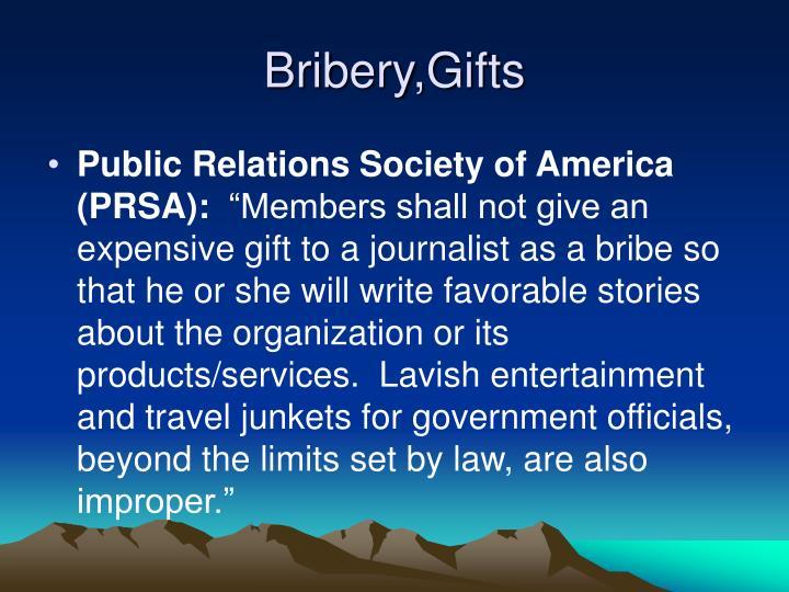 Bribery,Gifts