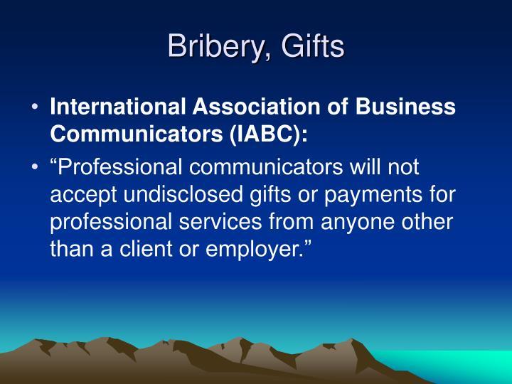 Bribery, Gifts
