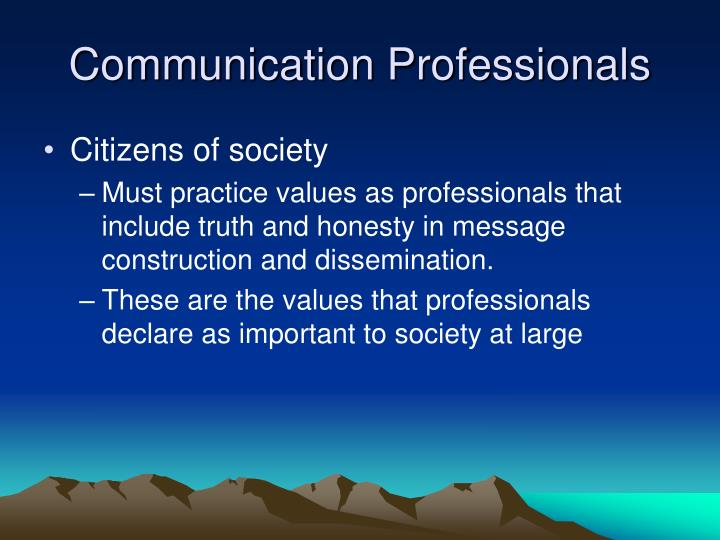 Communication Professionals