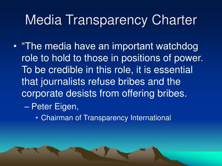 Media Transparency Charter