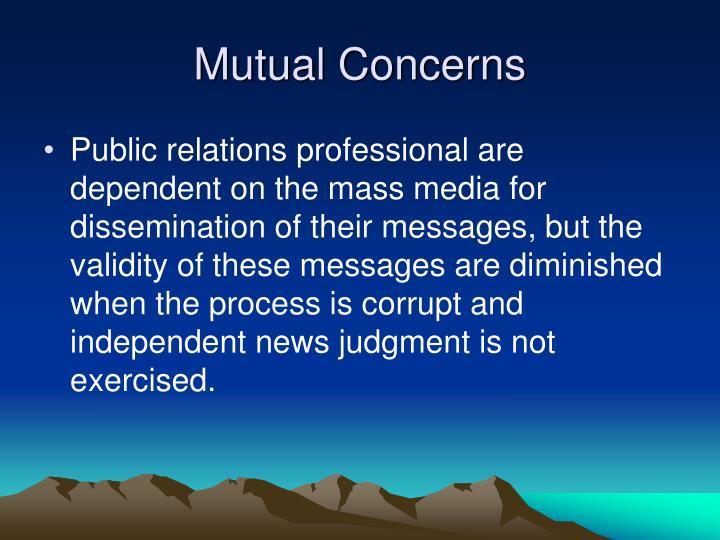 Mutual Concerns