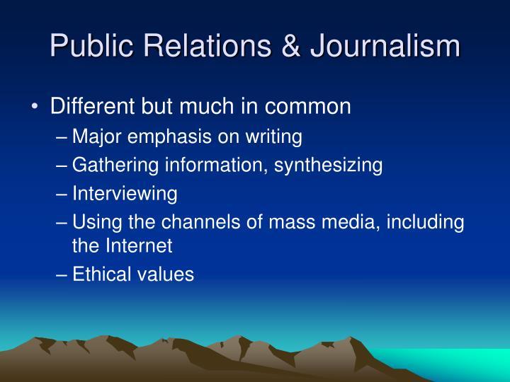 Public Relations & Journalism