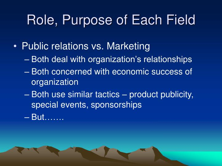 Role, Purpose of Each Field
