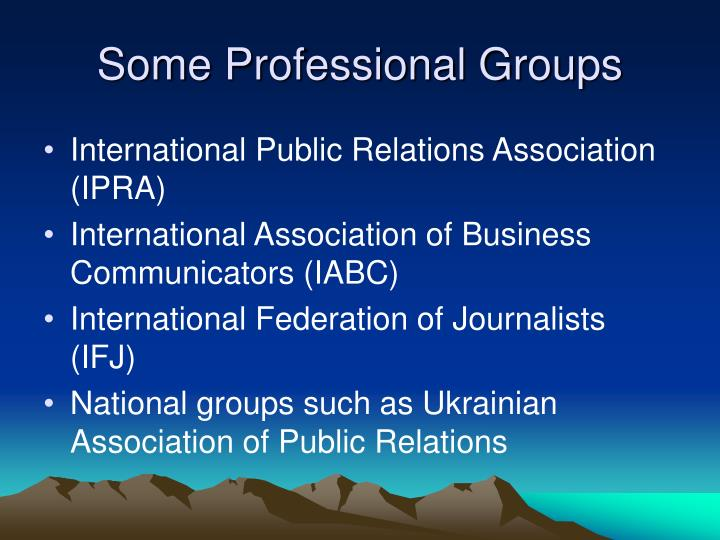 Some Professional Groups