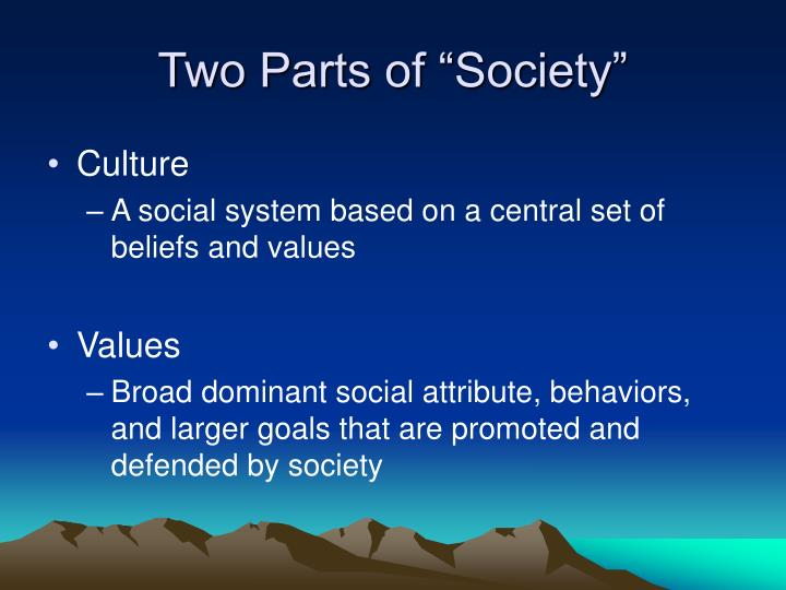 "Two Parts of ""Society"""