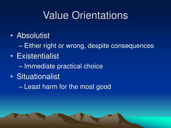 Value Orientations