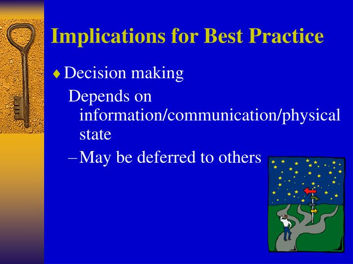 Implications for Best Practice