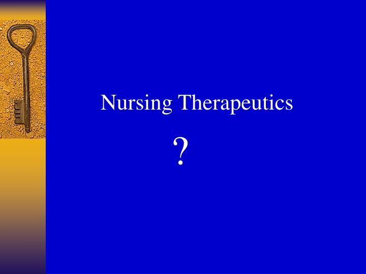 Nursing Therapeutics