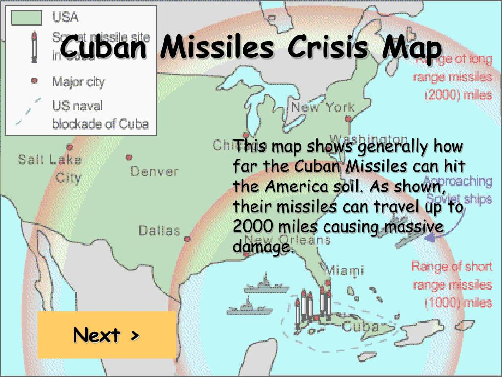 Cuban Missiles Crisis Map