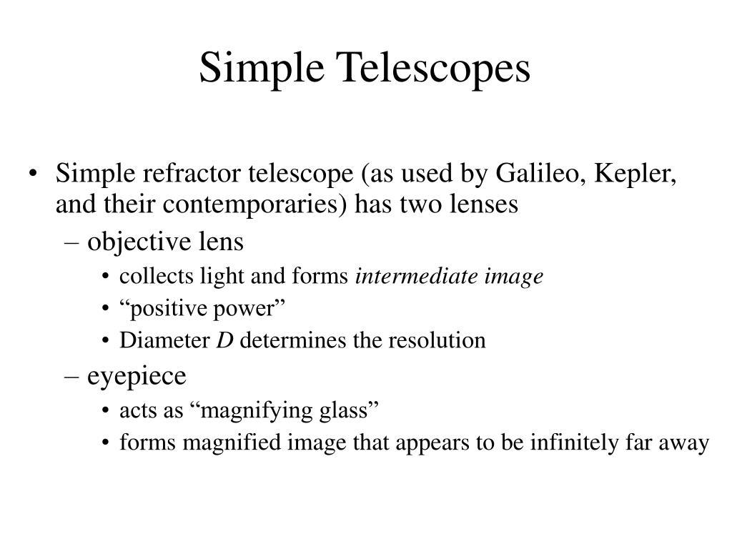 Simple Telescopes