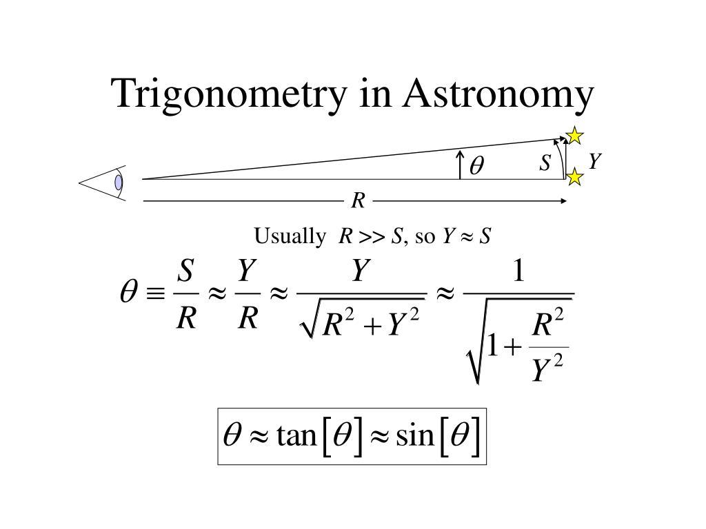 Trigonometry in Astronomy