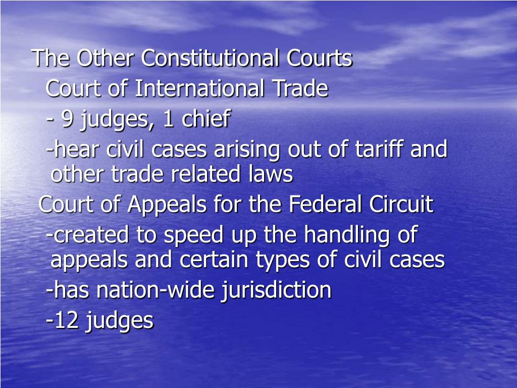 The Other Constitutional Courts