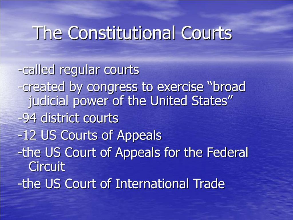 The Constitutional Courts