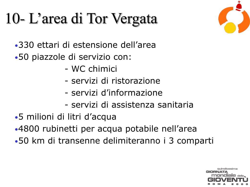 10- L'area di Tor Vergata