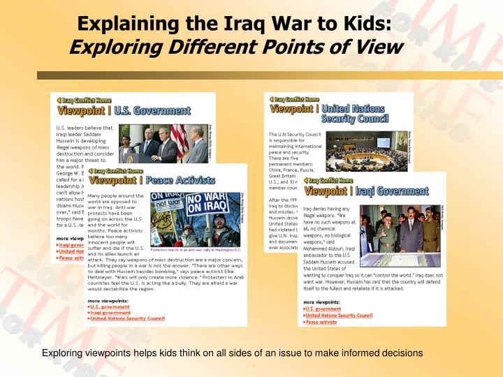 Explaining the Iraq War to Kids: