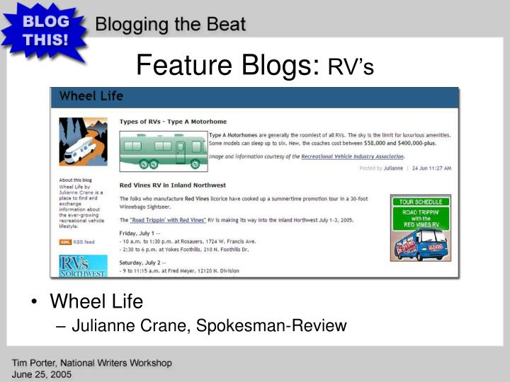 Feature Blogs: