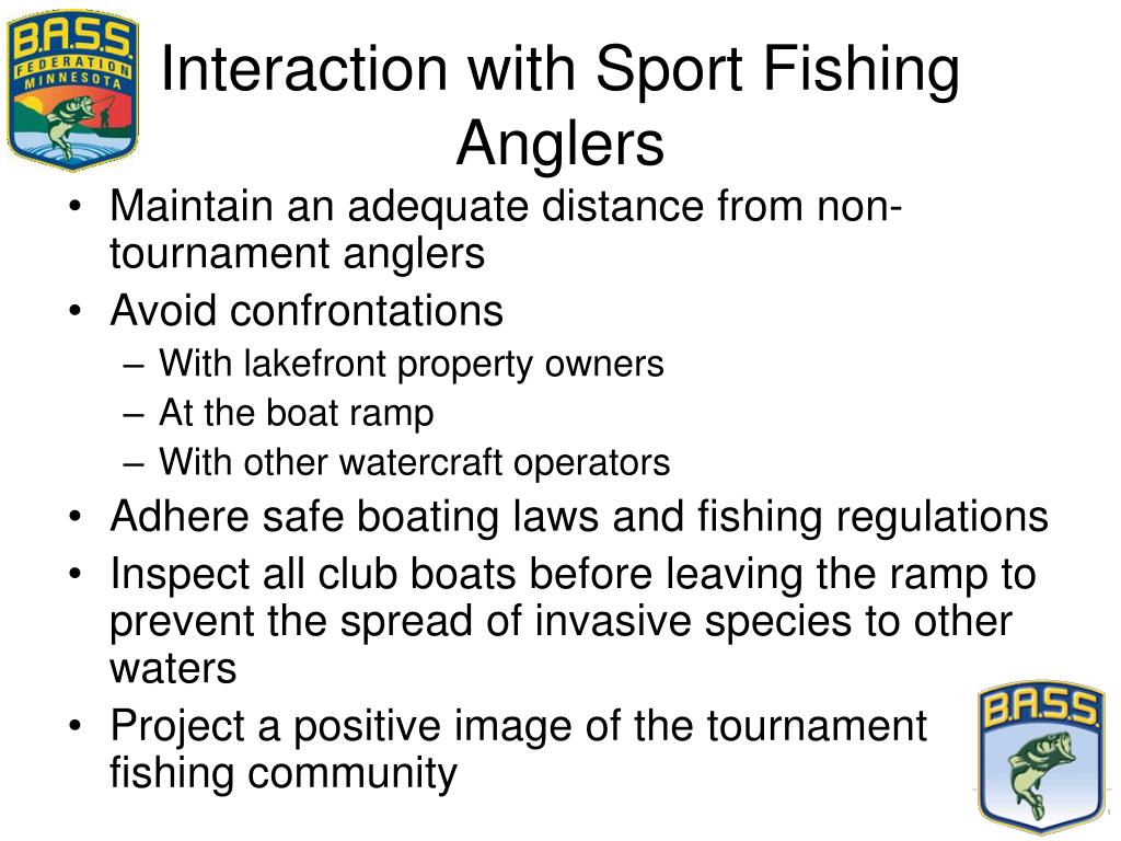 Interaction with Sport Fishing Anglers