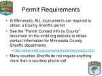 permit requirements