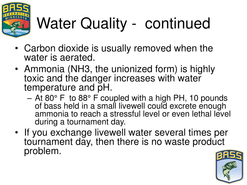 Water Quality -  continued