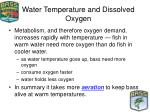 water temperature and dissolved oxygen