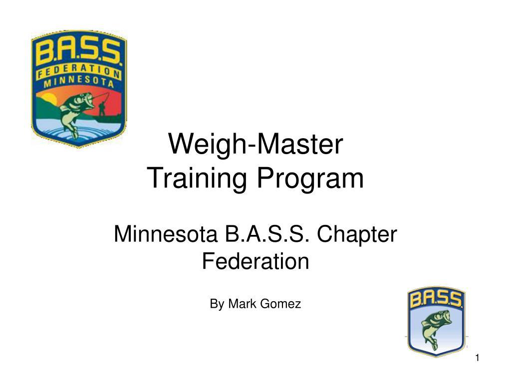 weigh master training program
