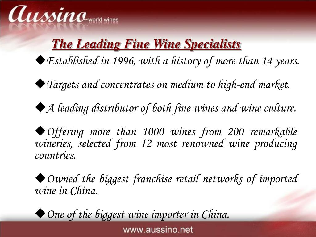 The Leading Fine Wine Specialists