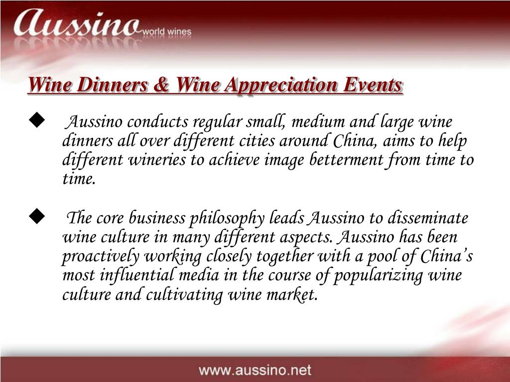 Wine Dinners & Wine Appreciation Events