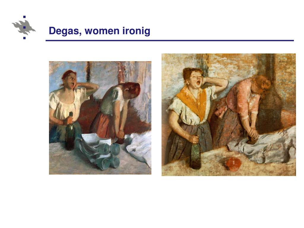 Degas, women ironig
