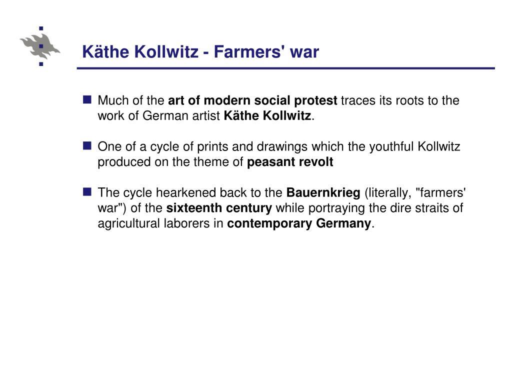 Käthe Kollwitz - Farmers' war