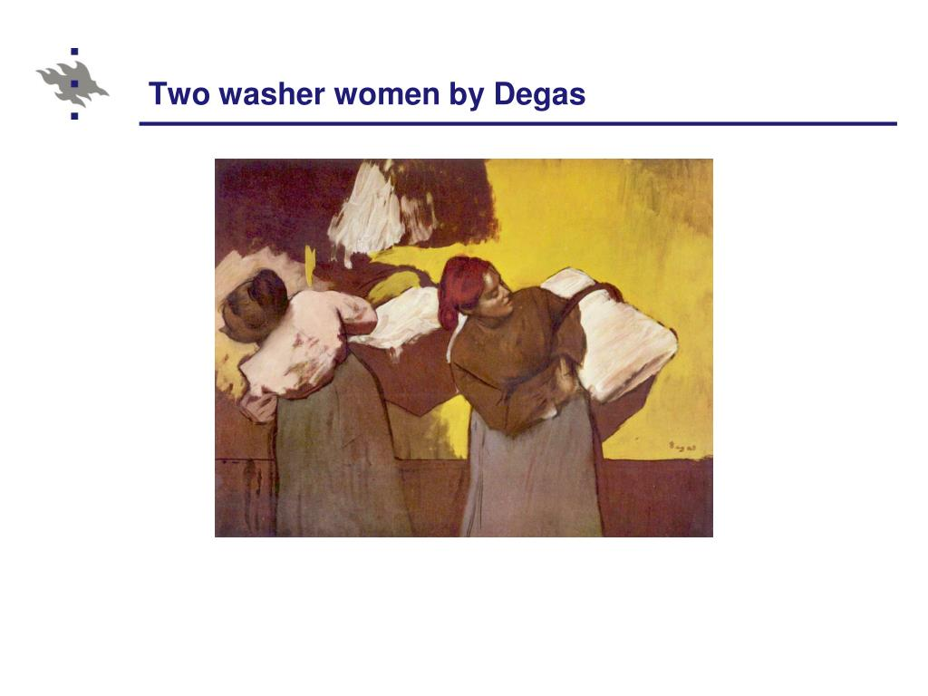 Two washer women by Degas