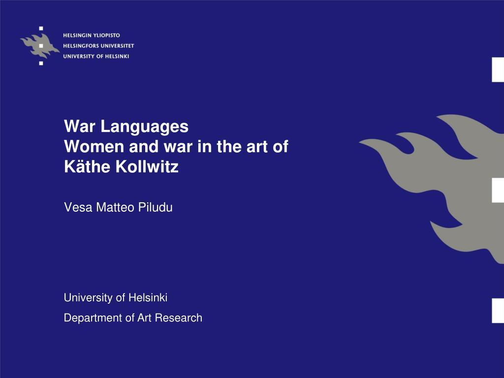 War Languages