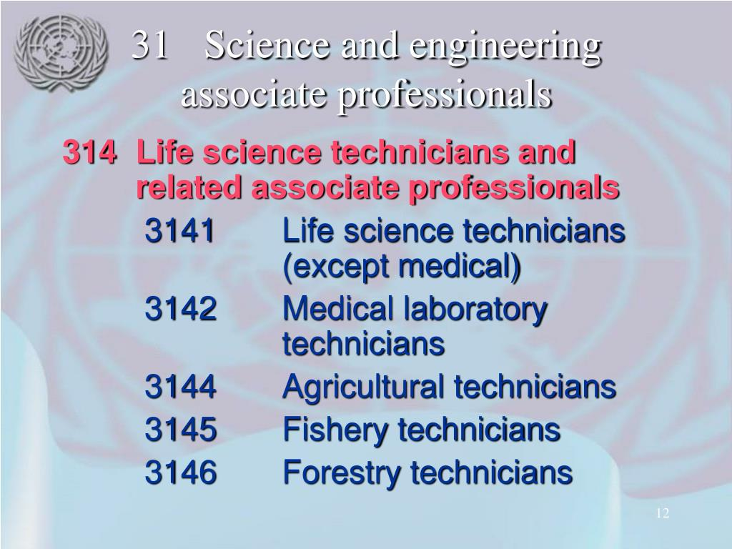 31Science and engineering associate professionals