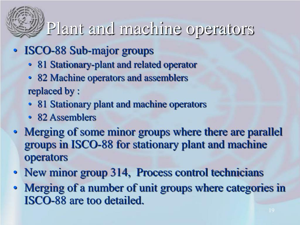 Plant and machine operators