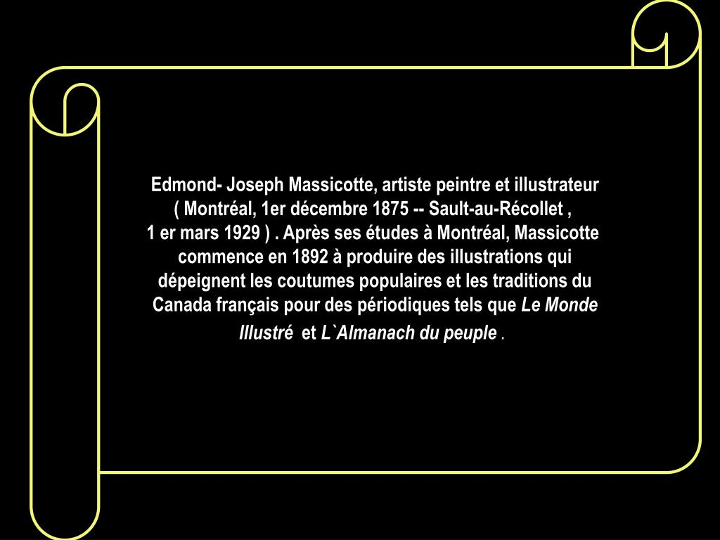 Edmond- Joseph Massicotte, artiste peintre et illustrateur