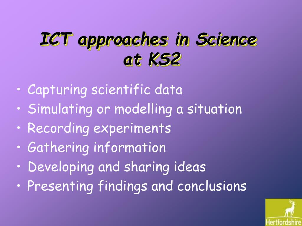 ICT approaches in Science