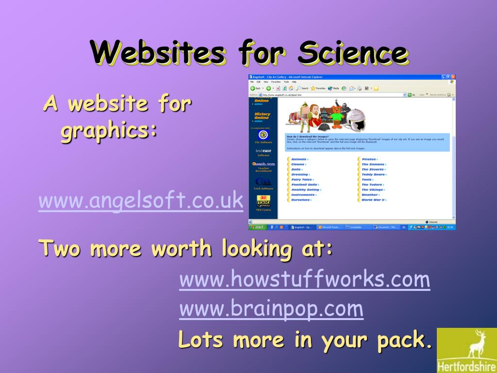 Websites for Science