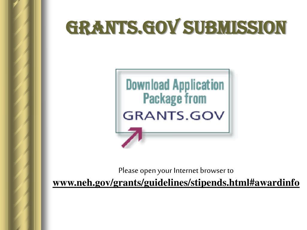 Grants.gov Submission