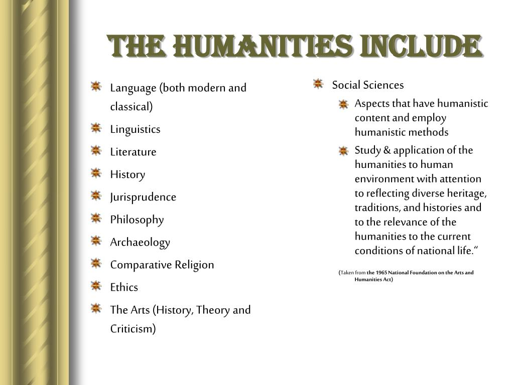 The Humanities Include