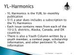 yl harmonics
