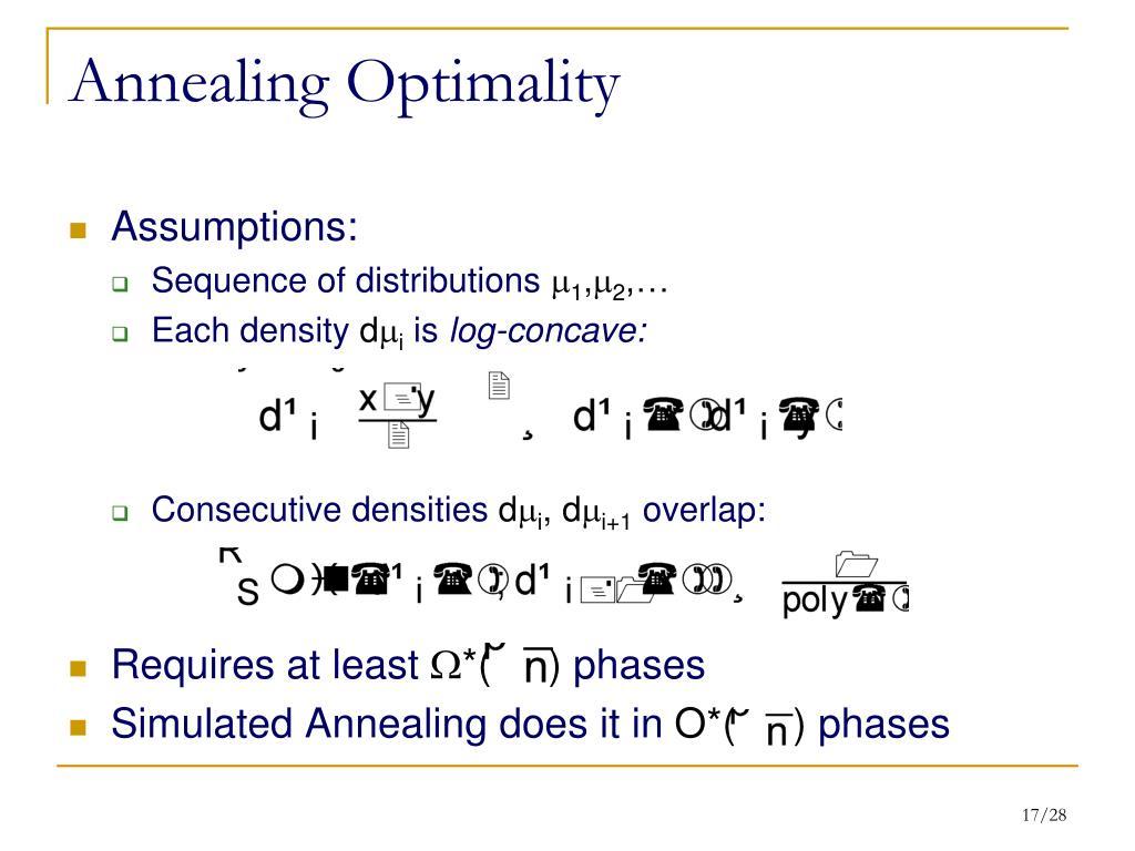 Annealing Optimality