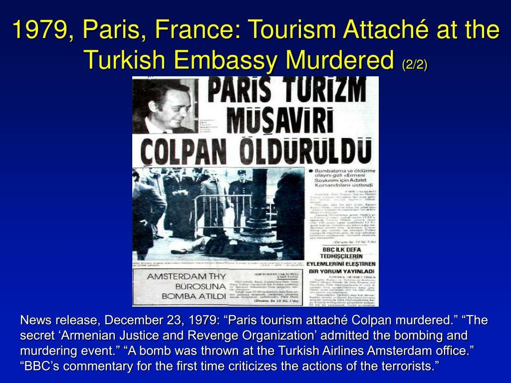 1979, Paris, France: Tourism Attach