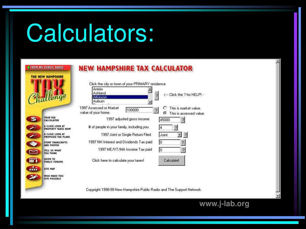 Calculators: