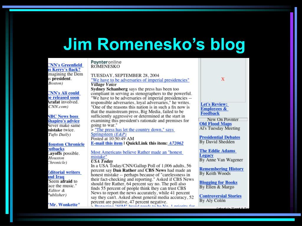 Jim Romenesko's blog