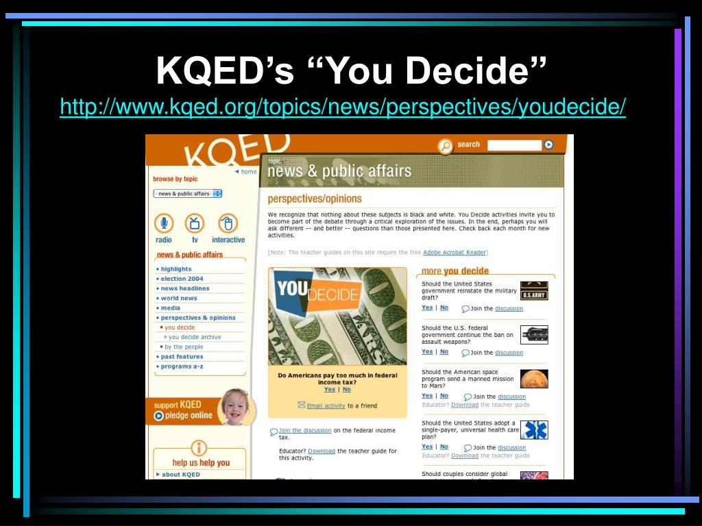 "KQED's ""You Decide"""