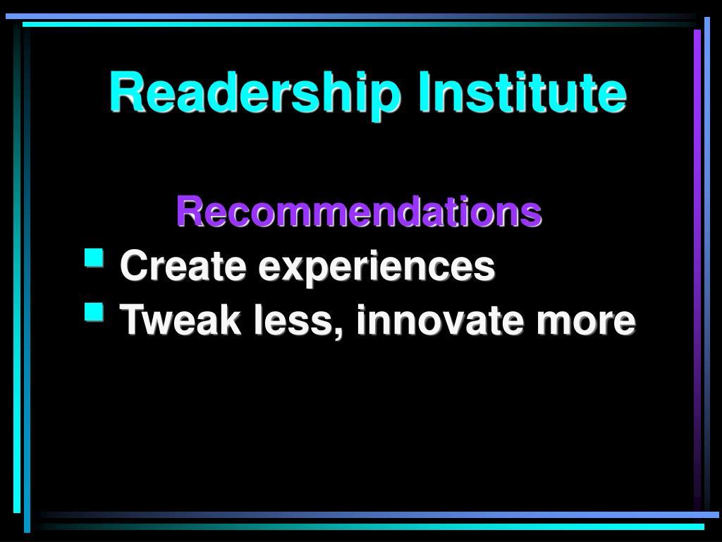 Readership Institute