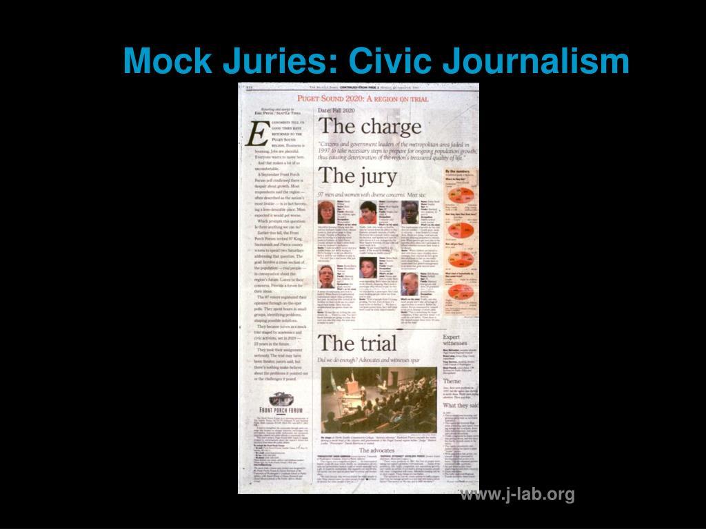 Mock Juries: Civic Journalism