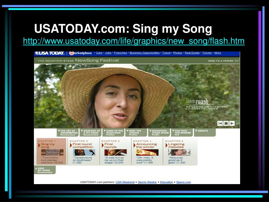 USATODAY.com: Sing my Song