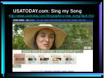 usatoday com sing my song http www usatoday com life graphics new song flash htm