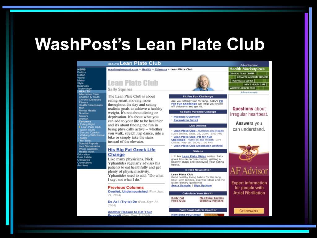 WashPost's Lean Plate Club